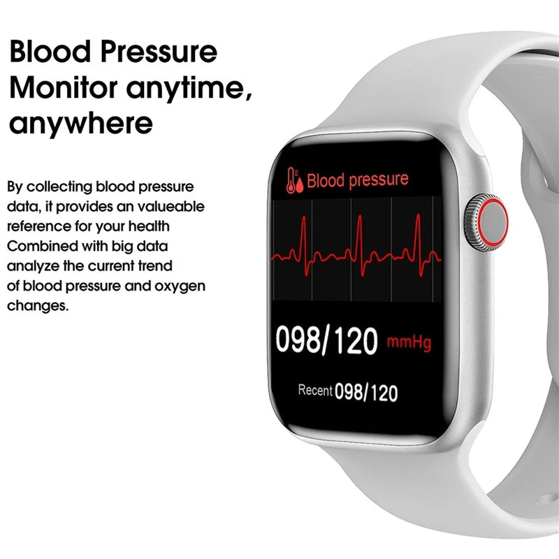 W16 Bluetooth Smart Watch Blood-Pressure Heart-Rate Temperature Measurement