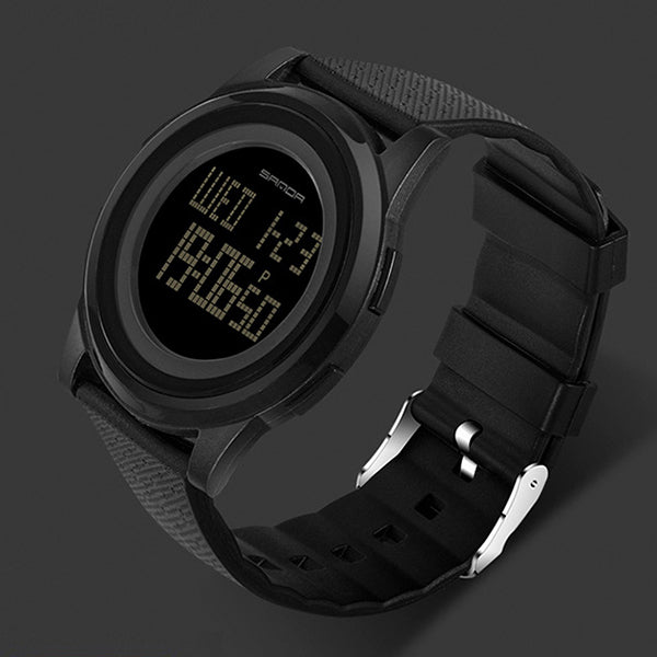 9mm Super Slim Sanda Sport Watch Men Brand Luxury Electronic LED Digital Wrist Watches For Men Male Clock Relogio Masculino
