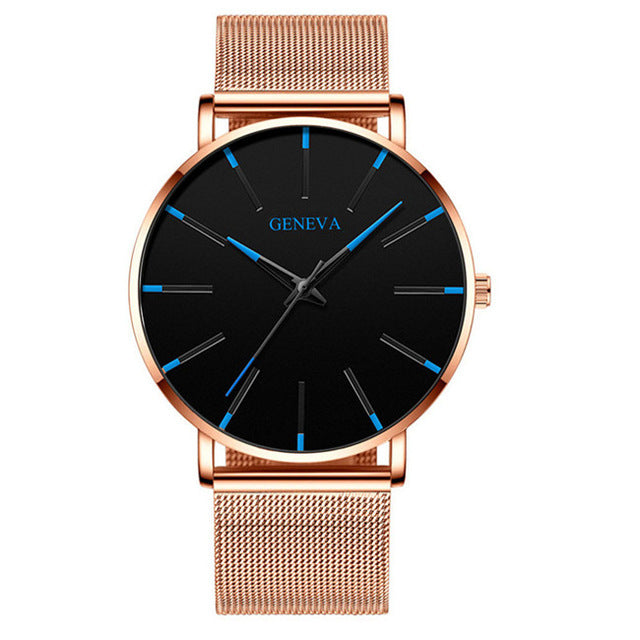 2020 minimalist men's fashion ultra-thin watch  Couples watches