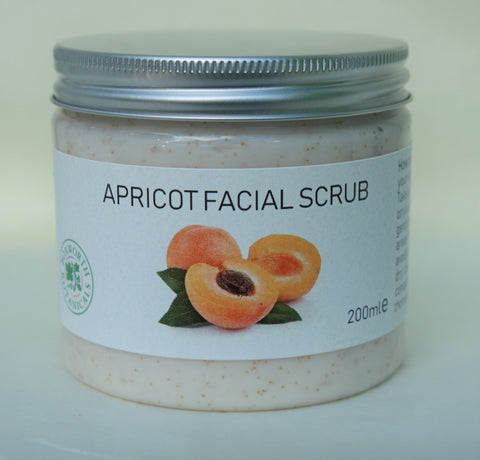 super nutritious natural Apricot exfoliating facial scrub for all skin types.
