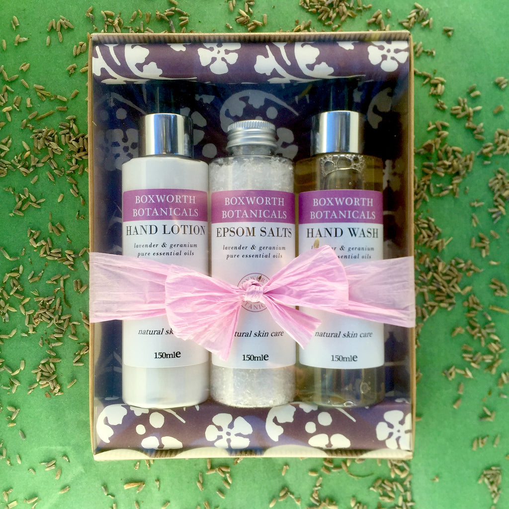 Lavender and Geranium Gift Set
