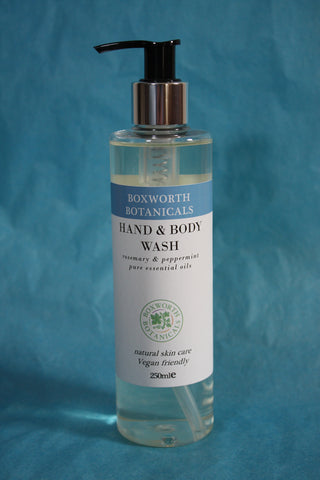 rosemary & peppermint hand & body wash. Vegan friendly