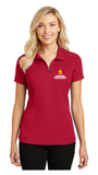 Capital Orthopaedics L580  Port Authority® Ladies Pinpoint Mesh Zip Polo