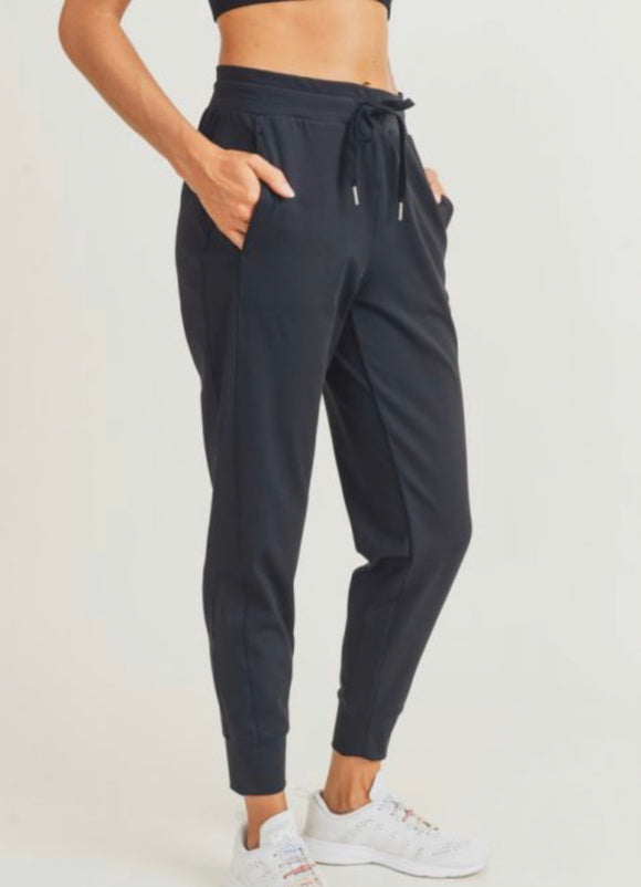 Mono B Side-Paneled Cuffed Joggers