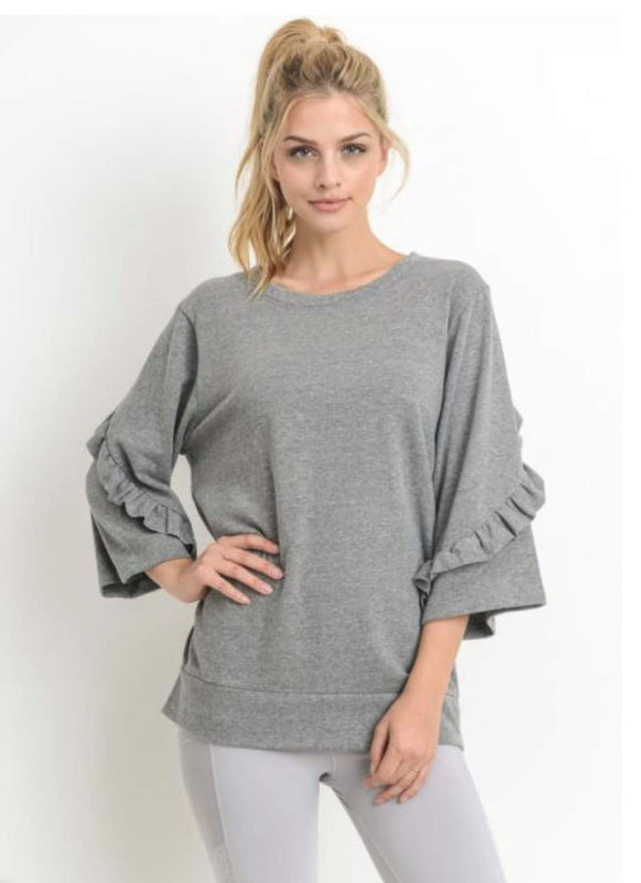 Mono B - Ruffled light weight sweatshirt