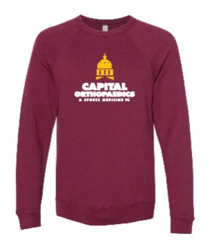 Capital Orthopaedics 3901 -  BELLA + CANVAS - Unisex Sponge Fleece Raglan Crewneck Sweatshirt