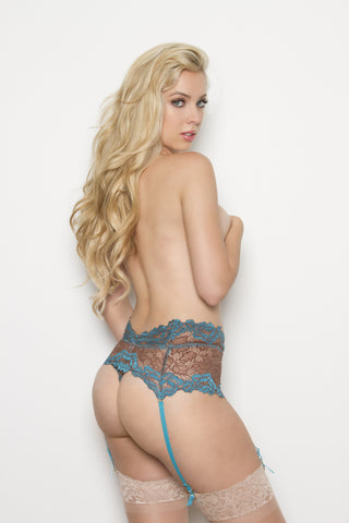 Capri High Waist Thong with Garter