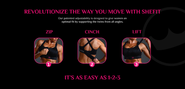 shefit sports bra fitting