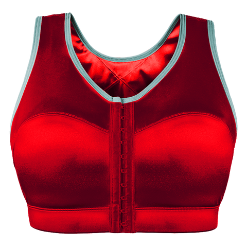enell sports bra rock it red