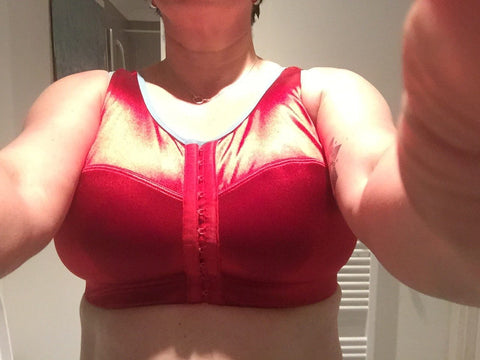enell sports bra rock it red nz