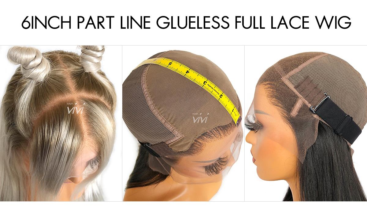 6INCH-PART-LINE-GLUELESS-FULL-LACE-WIG