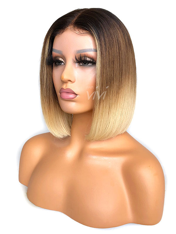 blonde bob lace front wig