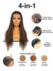 Nicki Brown Human Hair Wig HD Lace Pre-Plucked Hairline