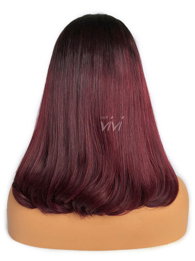 burgundy lace front wig