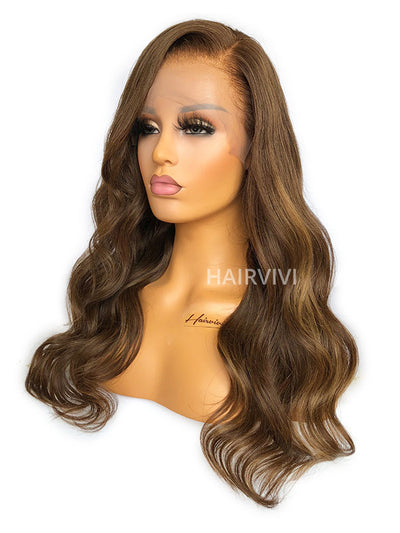 long brown wig