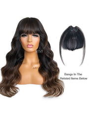 Lillian Ombre Lace Front Wig Pre-Plucked Hairline Pre-Bleached