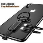 Dual Lightnings Adapter Phone Ring Holder for iPhone