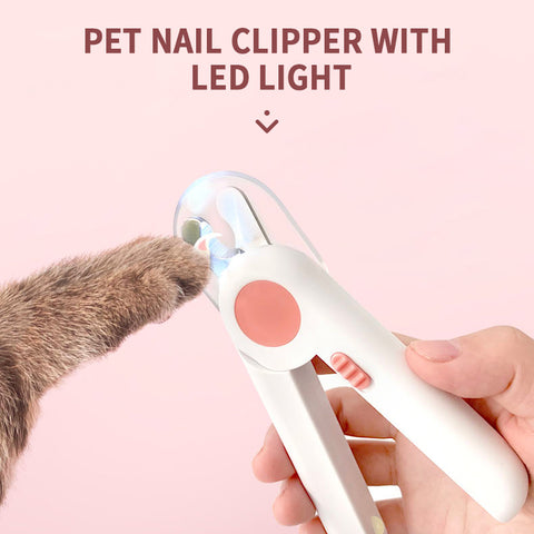 Pet Nail Clippers With LED Light