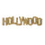 Hollywood Sign Replica - Wood (12 Inch, Gold w/ Glitter)
