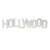 Hollywood Sign Replica - Wood (12 Inch, White)