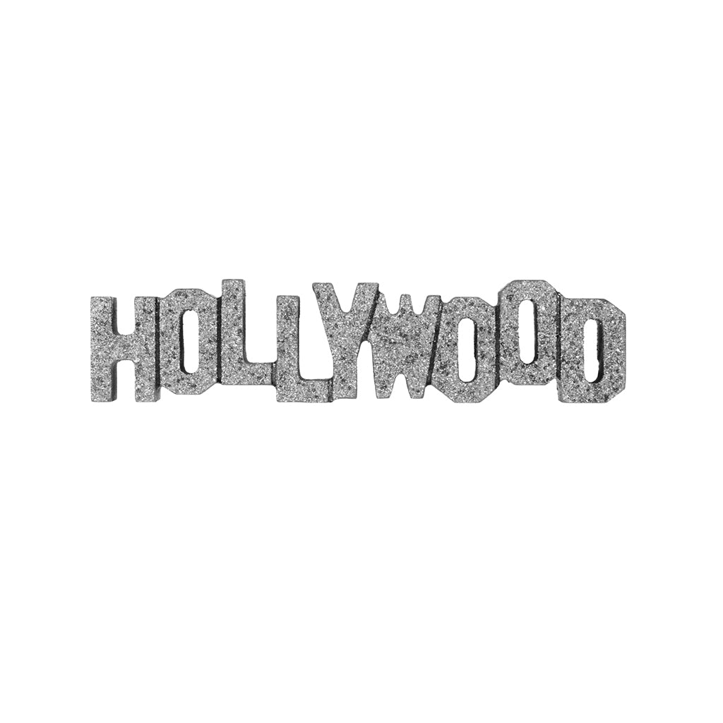 Hollywood Sign Replica - Wood (8 Inch, Silver w/ Glitter)