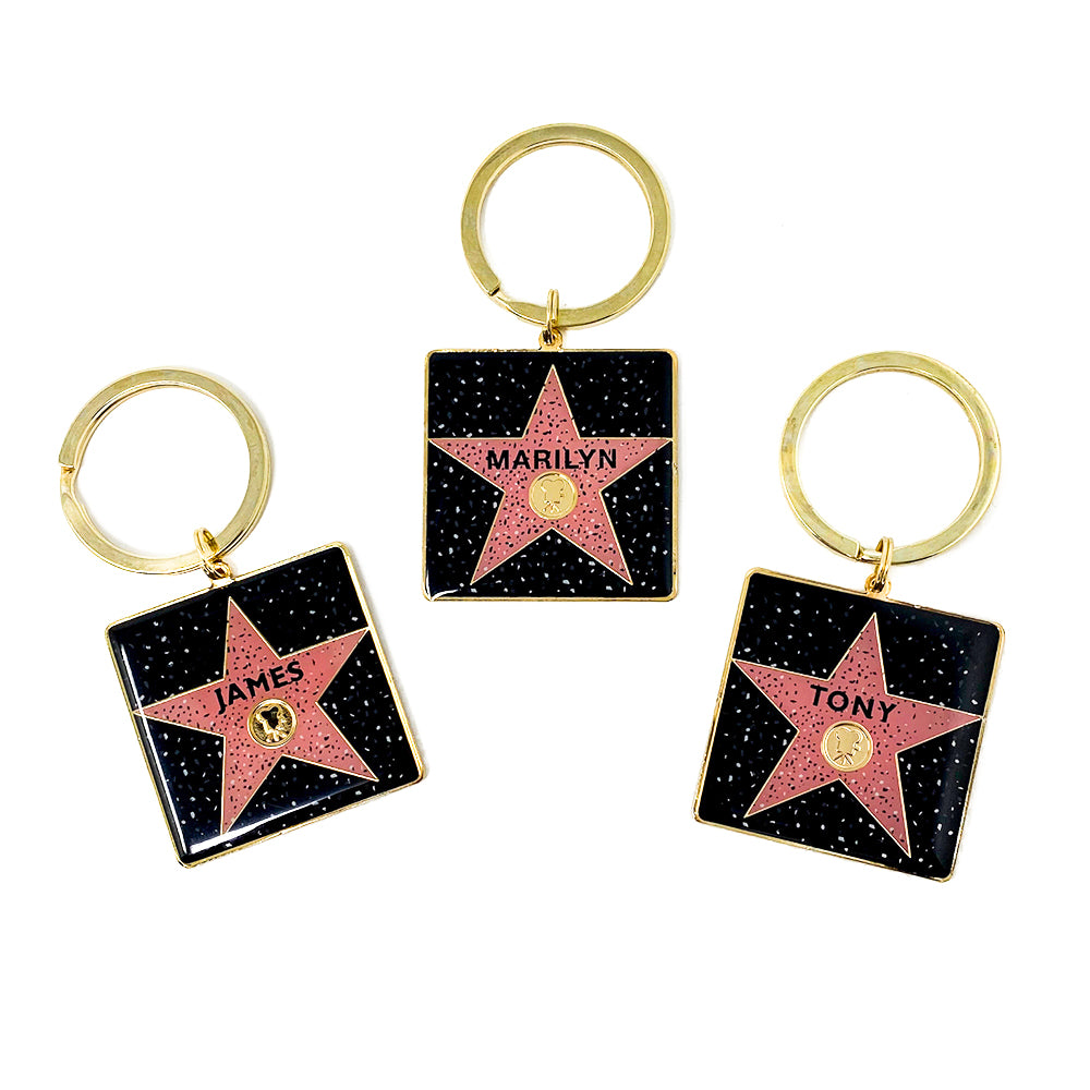 Custom Name Walk of Fame Keychain