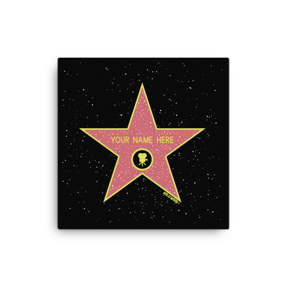 Custom Name Hollywood Walk of Fame Canvas Print