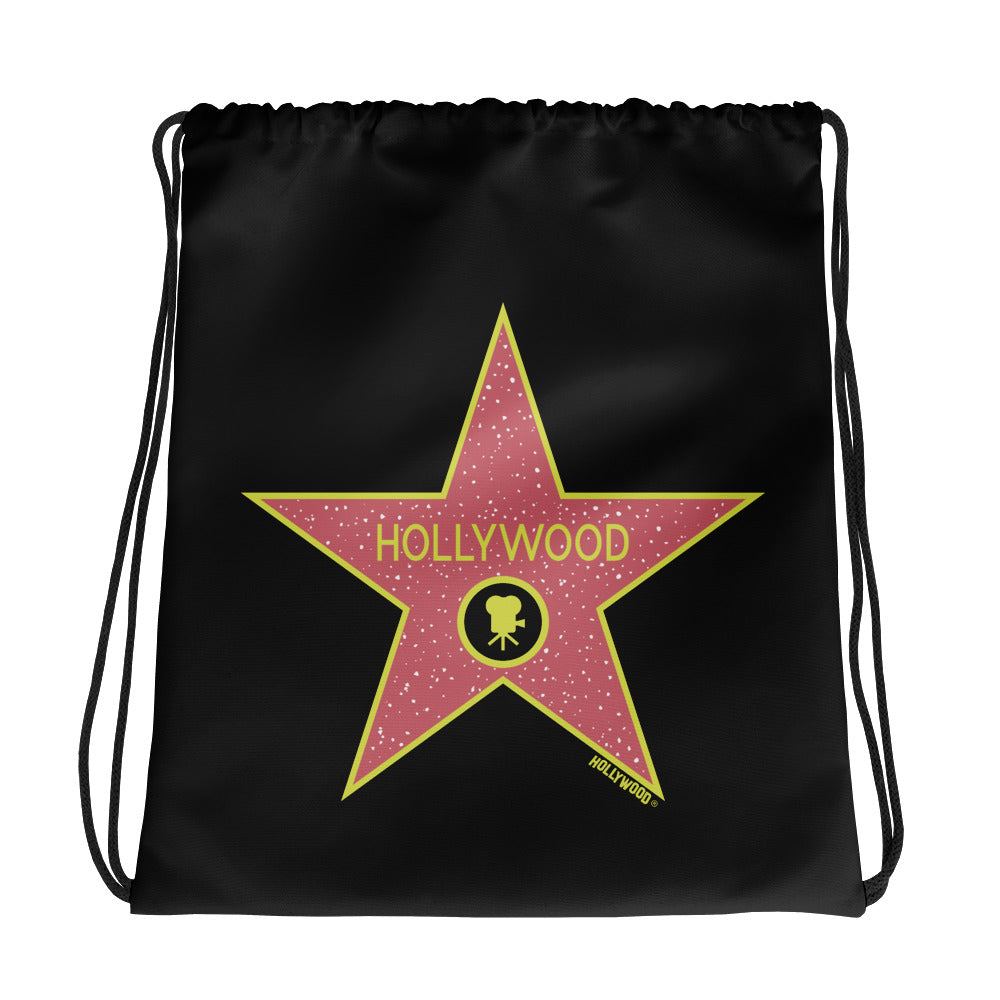Hollywood Walk of Fame Drawstring Bag