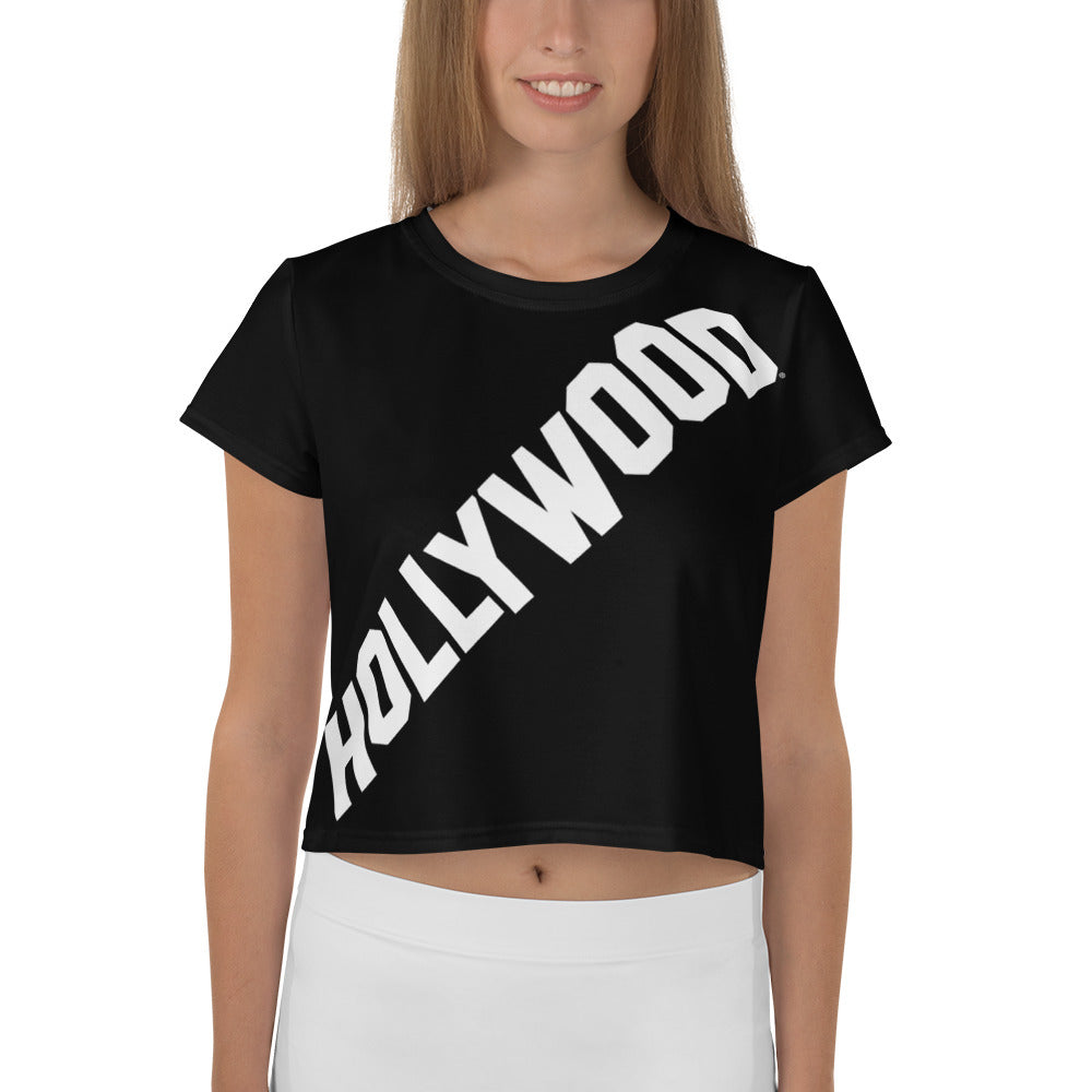Black Hollywood Crop Top