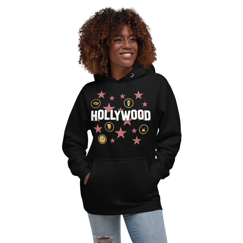 Hollywood Star Collage Hoodie