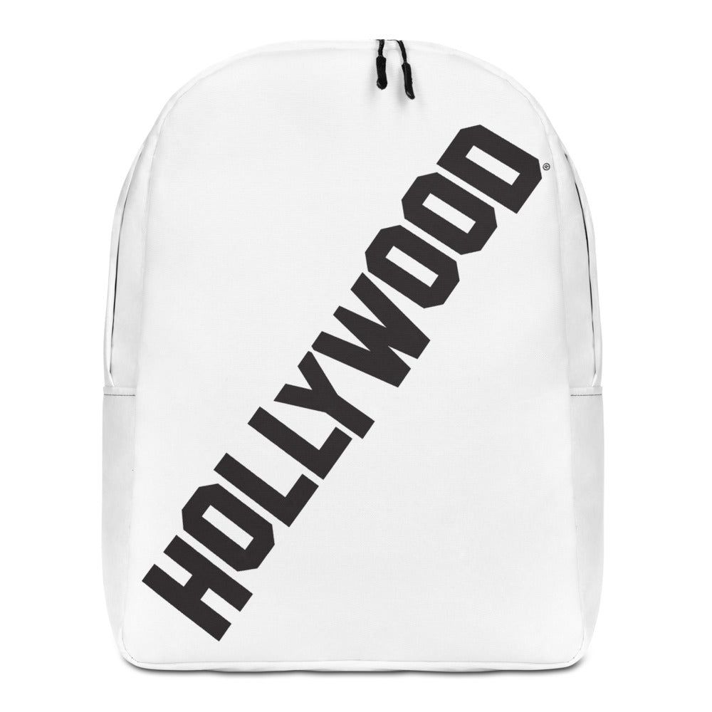 White Hollywood Minimalist Backpack