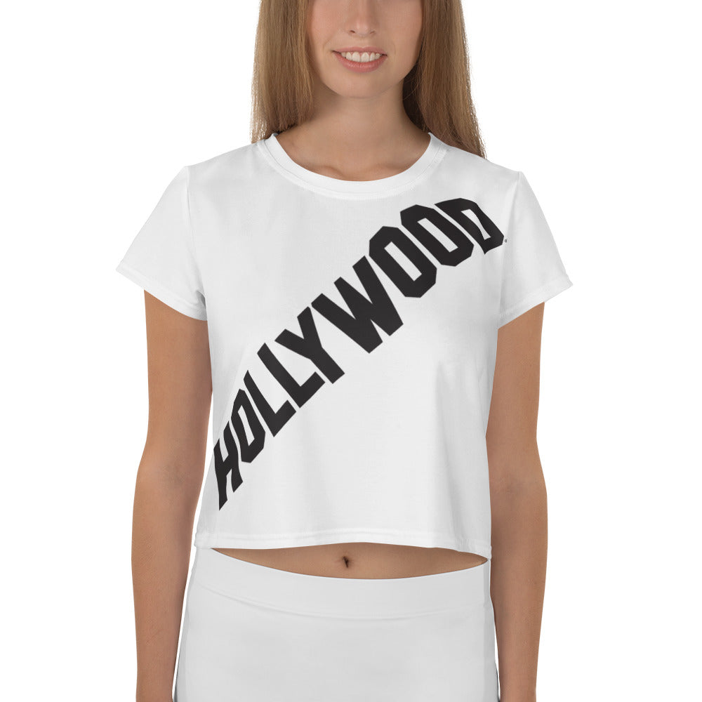 White Hollywood Crop Top