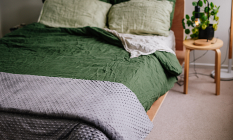 Weighted Blanket Linen Bed