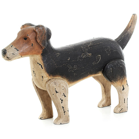 Jack Russell Dog with an Antique Painted Finish