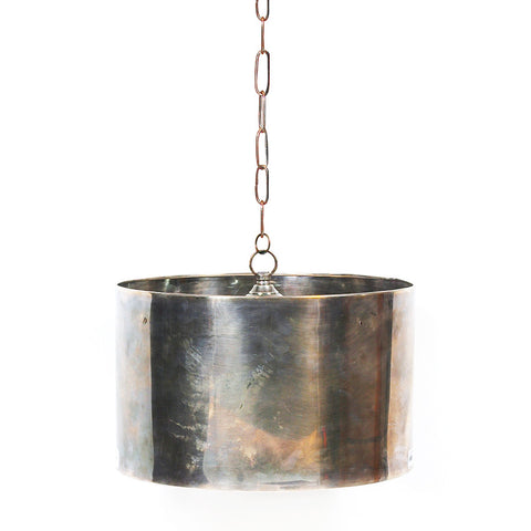Antiqued Brass Drum Pendant (Small)