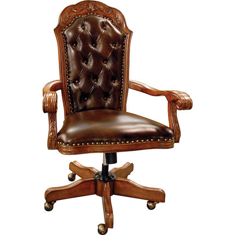 Chestnut & Brown Leather Office Chair