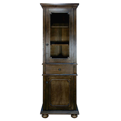 Tall Dark Wood Storage Cabinet