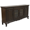 Dark Wood 4 Door Storage Cabinet