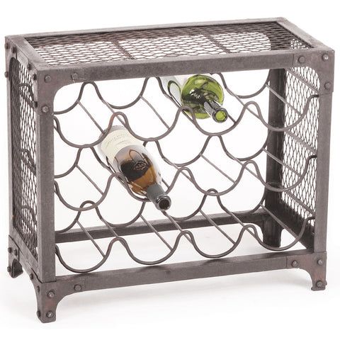 """Sine Wave"" Iron Wine Rack, Large"
