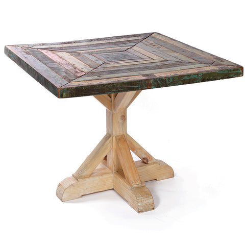 Reclaimed Wood Mosaic Table
