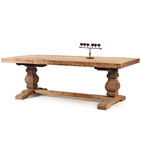 Reclaimed Pine Trestle Dining Table