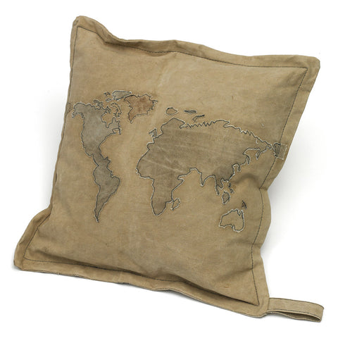 Tent Canvas World Throw Pillow
