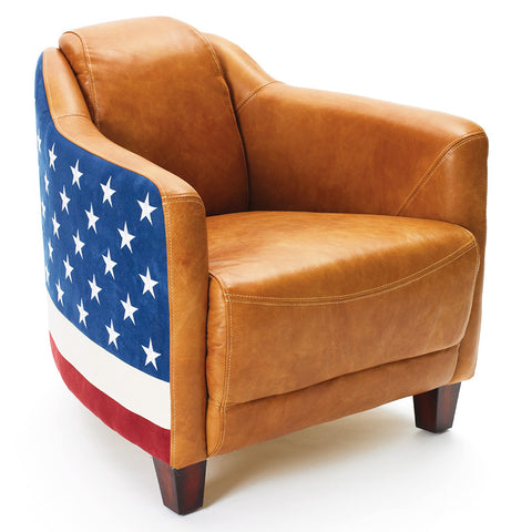 Patriotic Leather Chair