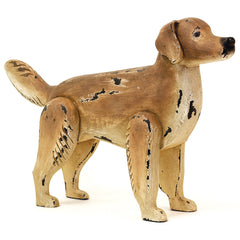 Hand-Painted Golden Retriever Sculpture