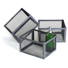 Square Mesh Steel Basket Set (3)