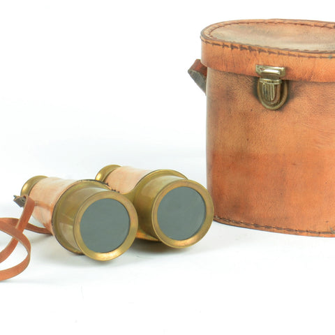 Leather & Brass Binoculars