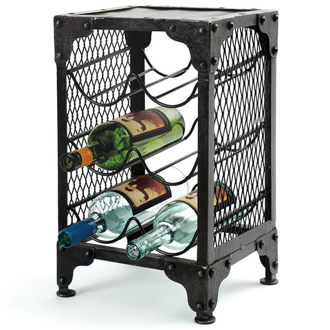 """Sine Wave"" Iron Wine Rack"