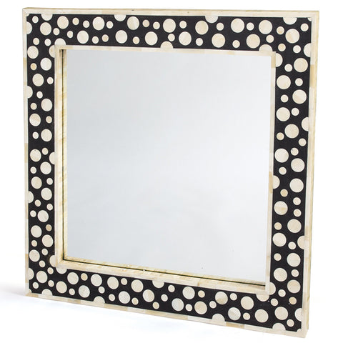 Polka Dot Bone Inlay Mirror