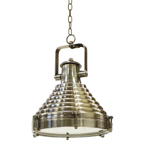 Brass Industrial Hanging Lamp