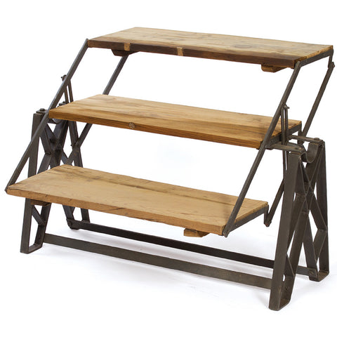 2-in-1 Folding Bookshelf & Coffee Table